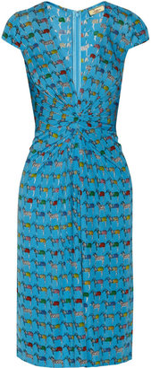 Issa Printed jersey dress