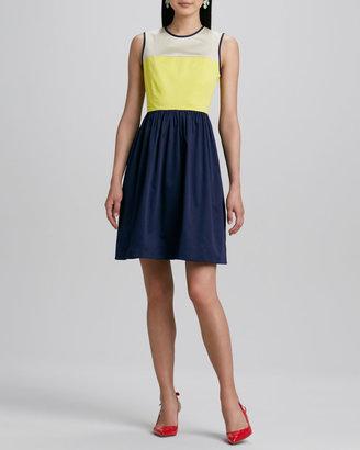 Kate Spade Jerry Colorblock Stretch-Cotton Dress