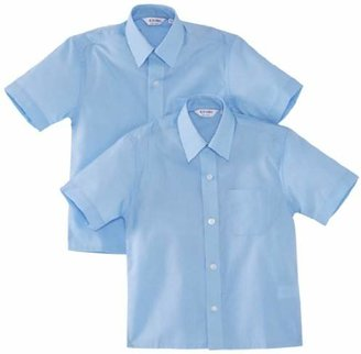 "Trutex Boy's 2pk Short Sleeve Easy Care Shirt,(Manufacturer Size: 12.5"" Collar)"