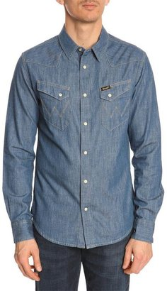 Wrangler City Light Blue Denim Shirt