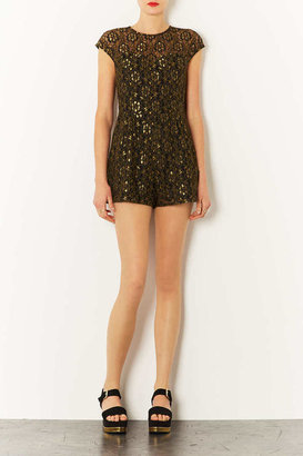 Topshop Lace Sweetheart Playsuit