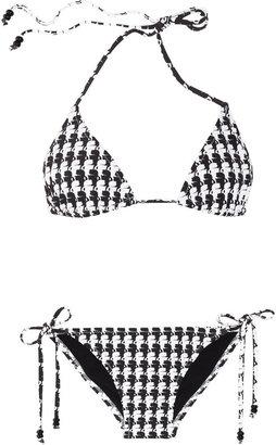 Karl Lagerfeld print triangle bikini