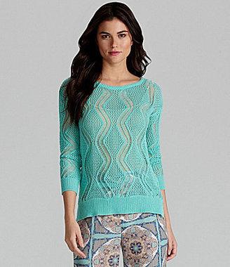Gianni Bini Erma Open-Weave Sweater