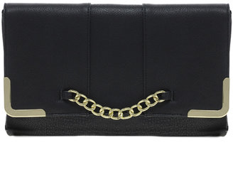 Asos Clutch Bag With Chain Detail