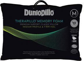 Therapillo Premium Support Memory Foam Pillow in Medium Profile