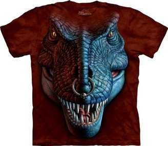 The Mountain T-Rex Face Men's Red Tee