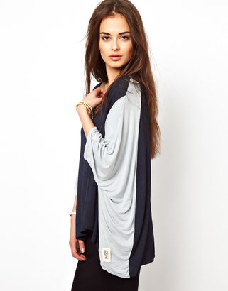 A Postcard From Brighton Two Tone Jersey Top