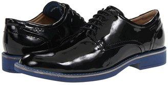 Ecco Biarritz Plain Toe Tie (Black Patent Leather) - Footwear