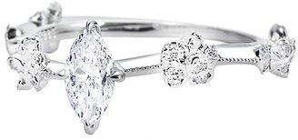 Marquis Diamond Solitaire Ring - White Gold