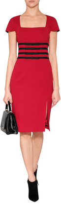 Moschino Cheap & Chic Moschino Cheap and Chic Virgin Wool Dress with Bow Sashes
