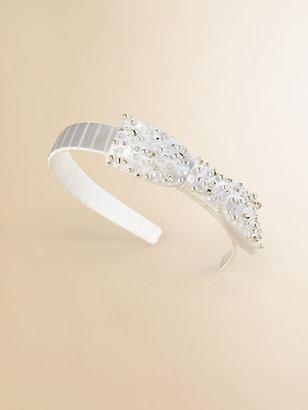 Us Angels Girl's Jeweled Bow Headband