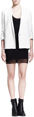 Helmut Lang HELMUT Cadet Mesh-Trim Ponte Dress