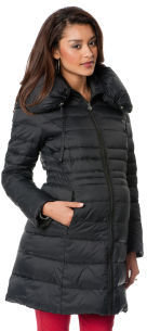 A Pea in the Pod LAUNDRY by Shelli Segal Quilted Puffer Maternity Coat