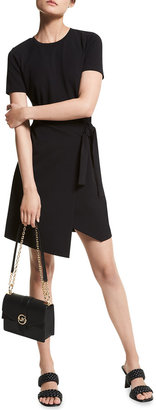 MICHAEL Michael Kors Scuba Crepe T-Shirt Wrap Dress