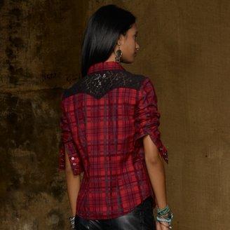 Denim & Supply Ralph Lauren Murray Lace-Trim Cowgirl Shirt
