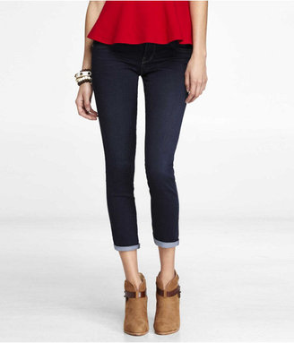Express Stella Extreme Stretch Cropped Rolled Jean Legging