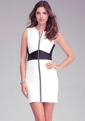 Bebe Zipper Leather Waist Dress