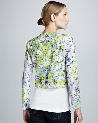 PJK Printed Cropped Jacket