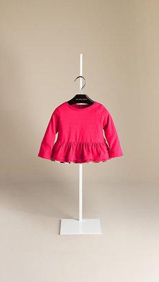 Burberry Cotton Layered Hem T-Shirt