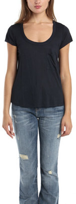 A.L.C. Classic Pocket Tee in Navy