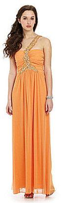 B. Darlin One-Shoulder Gown