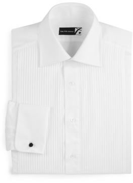 Saks Fifth Avenue Collection Classic-Fit Pleated Tuxedo Shirt