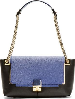 Lanvin Blue & Black Leather Shoulder Bag