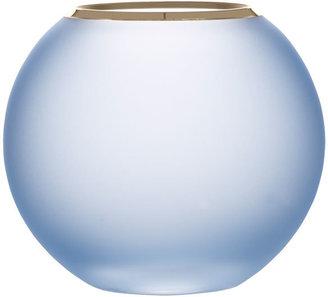 Colbie 5.25 Inch Blue Crystal Rose Bowl