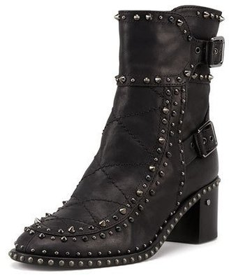 Laurence Dacade Badely Double-Buckle Boot, Black/Ruthenium $1,275 thestylecure.com