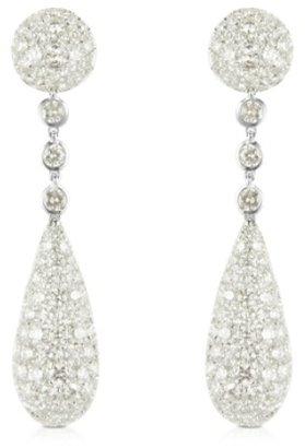 Colucci Diamonds Boucles d'oreilles en or blanc 18 carats et diamants 12.11 CTW
