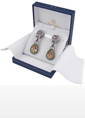 A-Z Collection Purple & Orange Clip-On Earrings