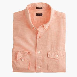 Slim Irish cotton-linen shirt in solid $79.50 thestylecure.com