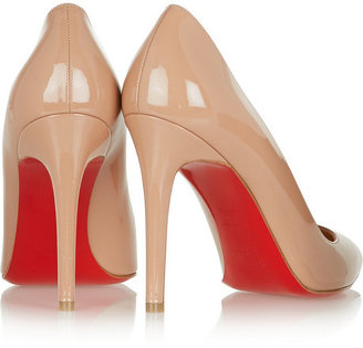 Christian Louboutin The Pigalle 100 patent-leather pumps