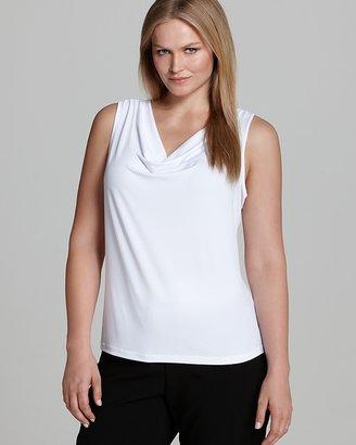 Calvin Klein Plus Cowl Neck Tank $34 thestylecure.com