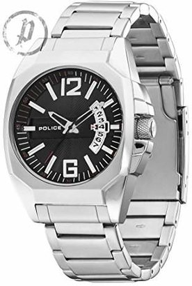 Police Men's PL-12897JS/02M Interstate Black Dial Stainless Steel Watch