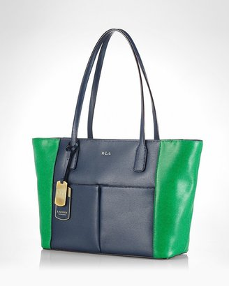 Lauren Ralph Lauren Tote - Newbury Colorblock Pocket Shopper