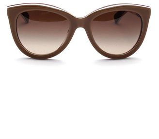Dolce & Gabbana Multi-layer oversized cat-eye sunglasses