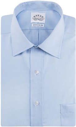Eagle Men's Non Iron Regular Fit Solid Spread Collar Dress Shirt