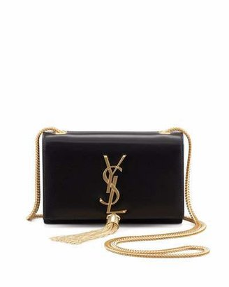 Saint Laurent Cassandre Small Tassel Crossbody Bag, Black $1,890 thestylecure.com
