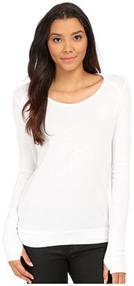 LAmade Thermal Top With Thumbholes (Black) Women's Sweater