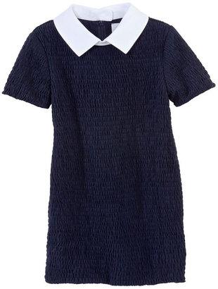 Petit Bateau Girl's Carven Smocked Dress In Light Cotton