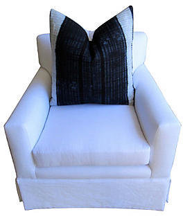 Fragments for Neiman Marcus Identity Club Chair w/ Indigo Batik Pillow