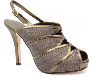 "Kate Spade NEW YORK Rachel"" Bronze Leather & Lurex Slingback Pump"