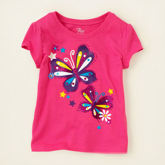 Children's Place Butterfly stars graphic tee