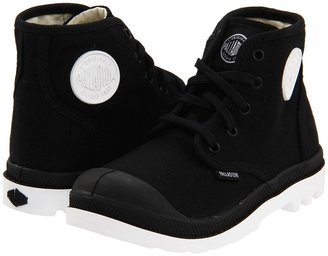 Palladium Pampa Hi Lace (Toddler) (Black/White) - Footwear
