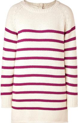 By Malene Birger Ecru/Berry Striped Pullover