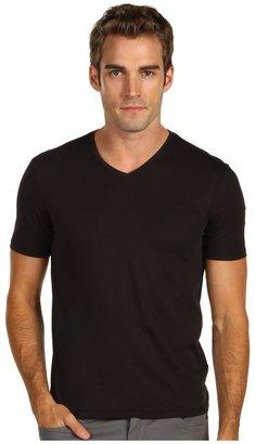 Vince Solid Jersey Short Sleeve V-Neck Tee