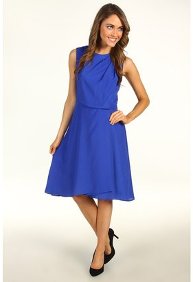 Vince Camuto Sleeveless Pleated Dress (Cobalt) - Apparel