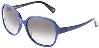 Diane von Furstenberg Fae (Black/Cherry/Smoke Gradient) - Eyewear