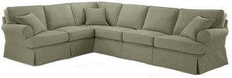 JCPenney FURNITURE PRIVATE BRAND Friday Twill 4-pc. Slipcovered Sectional